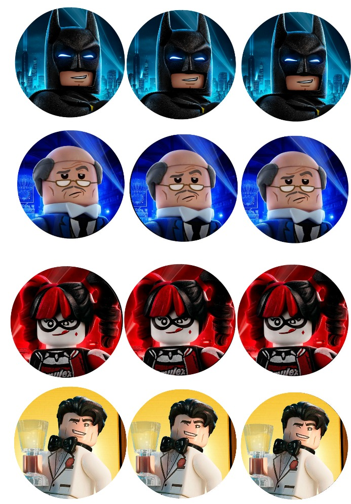Musings of an Average Mom: Free Lego Batman Cupcake Toppers