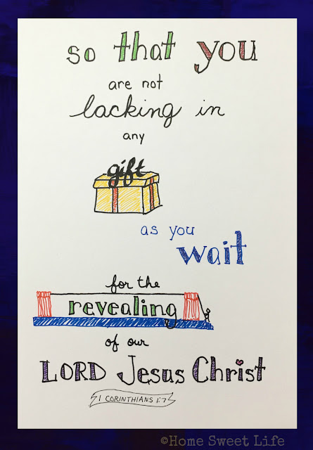 Scripture Writing, hand-lettering, 1 Corinthians