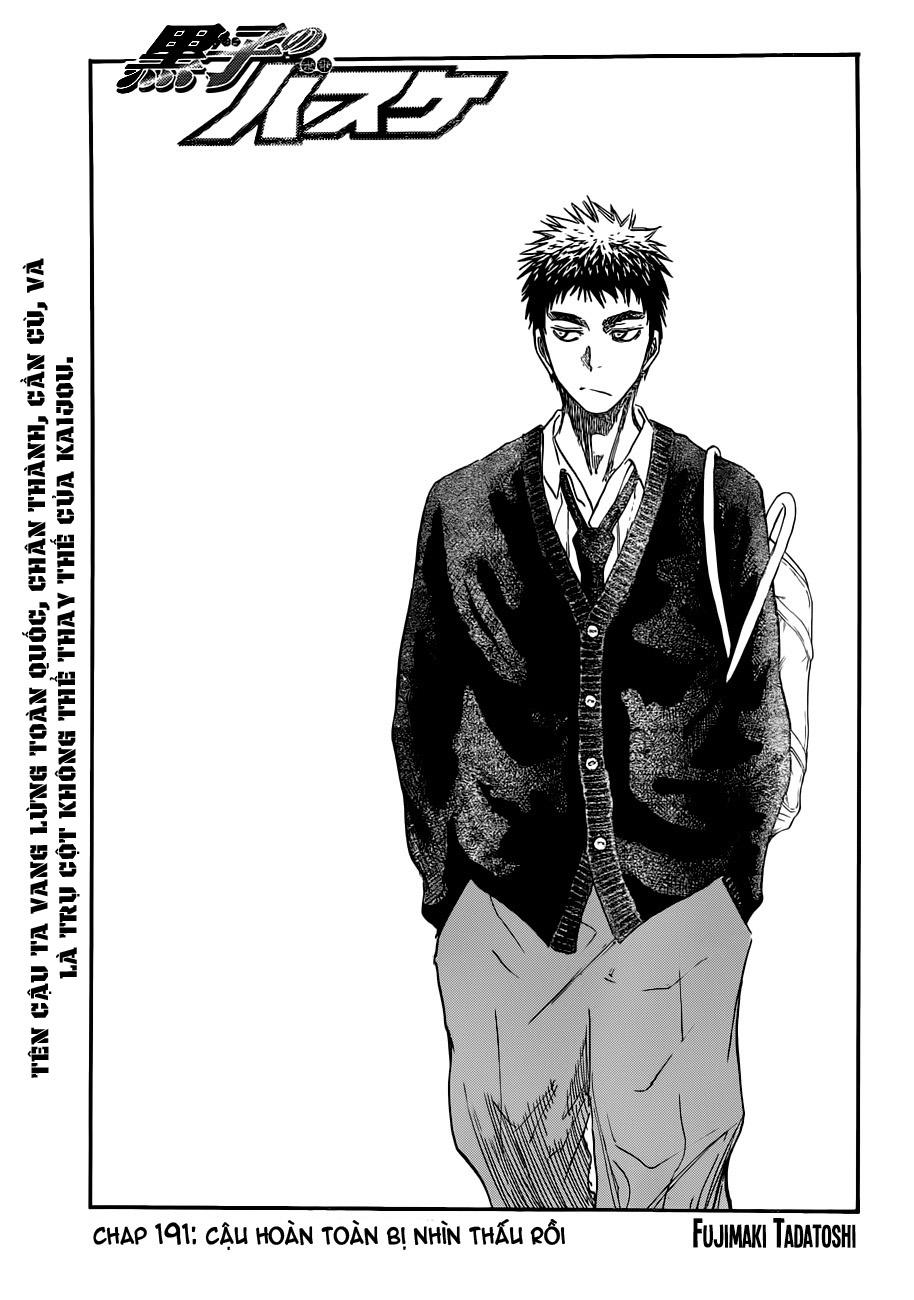 Kuroko No Basket chap 191 trang 1