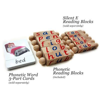 Montessori Reading Blocks from Quality Montessori