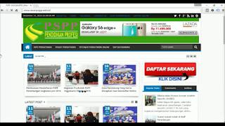 Tampilan awal web pendaftaran PSPP