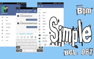 BBM Mod Simple V3.3.6.51 Apk Terbaru