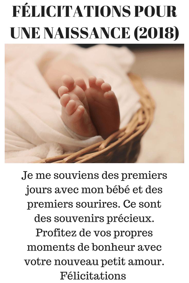 Felicitation pour une naissance petite fille