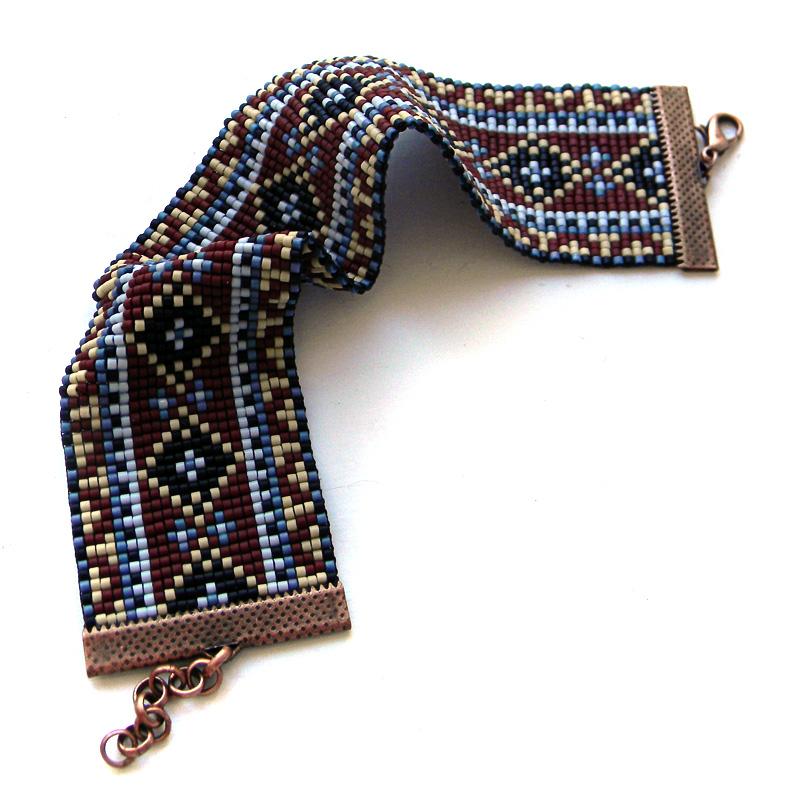купить браслет из бисера подарок девушке этно украшение