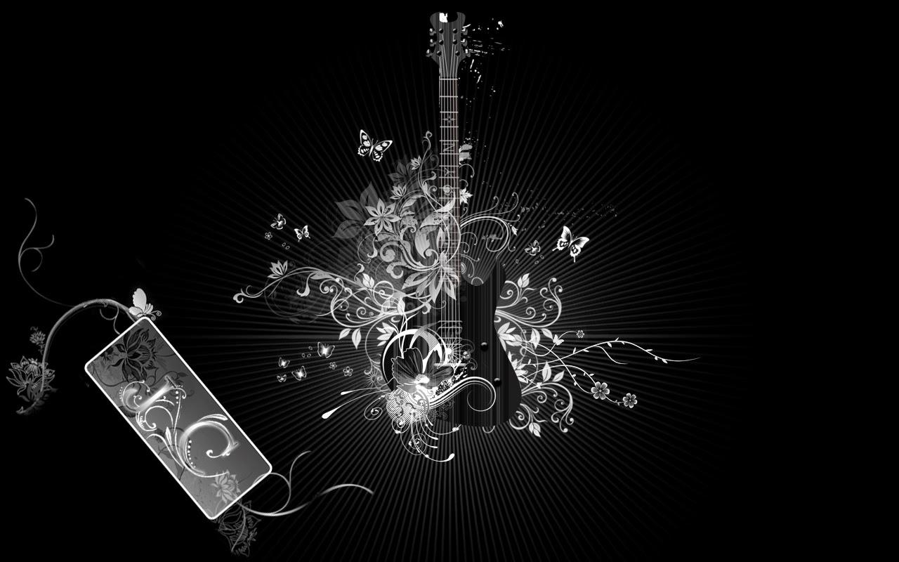 Freehdwallpapershub Black Guitar Hd Wallpapers