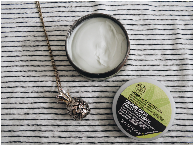 beauty | favorite three beauty products | may 2016 | the body shop hemp face protector | more details on my blog http://junegold.blogspot.de | life & style diary from hamburg | #beauty #bodyshop #facecream