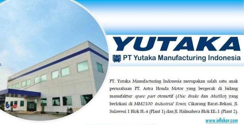 Informasi Lowongan Terbaru PT. Yutaka Manufacturing Indonesia (YMI) 2018
