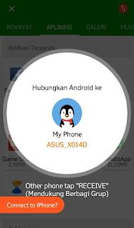 Cara transfer file android ke android lainnya dengan wifi gratis aplikasi Xender