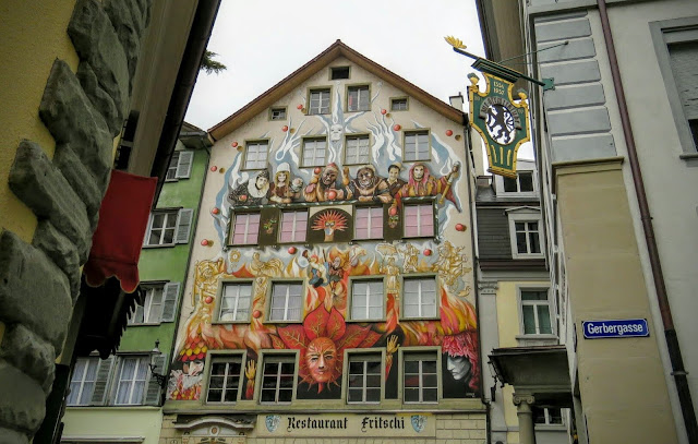 Long Winter Weekend Lucerne Switzerland - Whimsical Facade