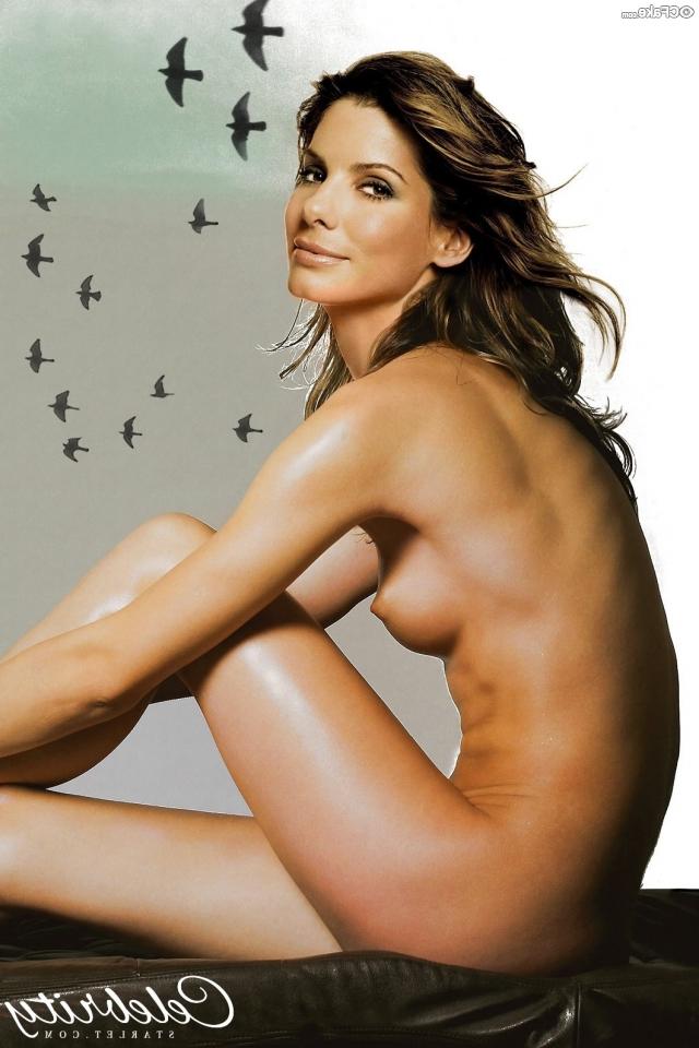 Sandra Bullock Nude Boobs And Firm Nipples Magazine Photo