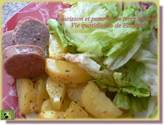 Vie quotidienne de FLaure : Saucisson et pommes de terre au four
