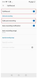 Cara menonaktifkan Fitur perekaman panggilan otomatis di OnePlus 6 /disable auto call recording di OnePlus 6