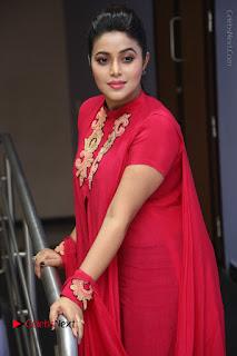 Actress Poorna Latest Stills in Red Dress at Rakshasi First Look Launch  0201.JPG