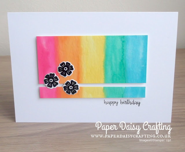 Beautiful bouquet with rainbow from Stampin' Up!