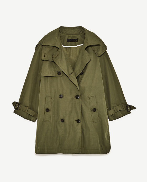 krótki trencz, płaszcz trencz ZARA, trench na wiosnę, stylizacja z trenczem