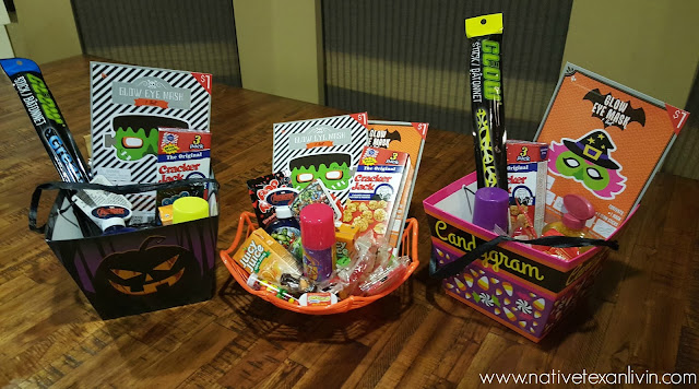 Halloween Boo Baskets Assembled with Free Printables