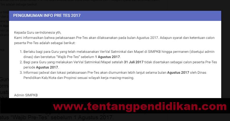 Gambar Jadwal Pretes PKB 2017