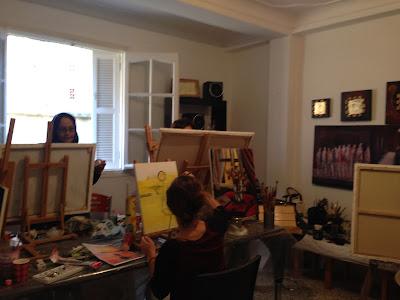 Les retrouvailles des artistes de l'atelier Artemisia 10