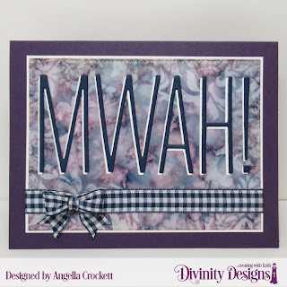 Divinity Designs Mixed Media Stencil: Damask, Custom Dies: Long & Lean Letters, Pierced Rectangles