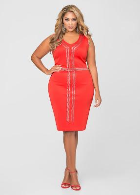 vestidos para gorditas de fiesta rojos