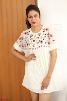 Lavanya Tripathi in Summer Style Spicy Short White Dress at her Interview  Exclusive 169.JPG