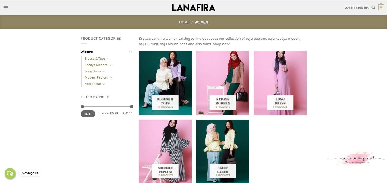 please tergoda dengan butik online LANAFIRA!