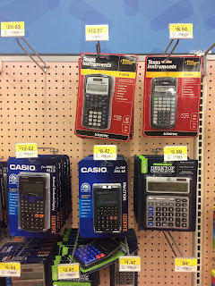Casio and Texas Instrument calculators, both simple and advanced, for sale.