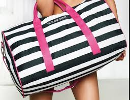 VICTORIA SECRET STRIPE BAG