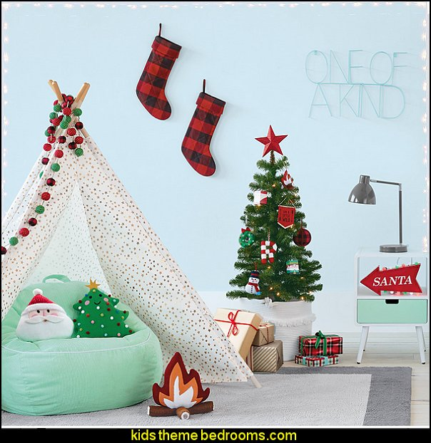 christmas decorating bedrooms - Christmas decorations kids rooms