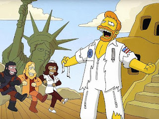 Simpsons Planet of the Apes