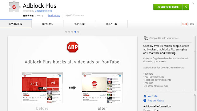 block youtube ads abp