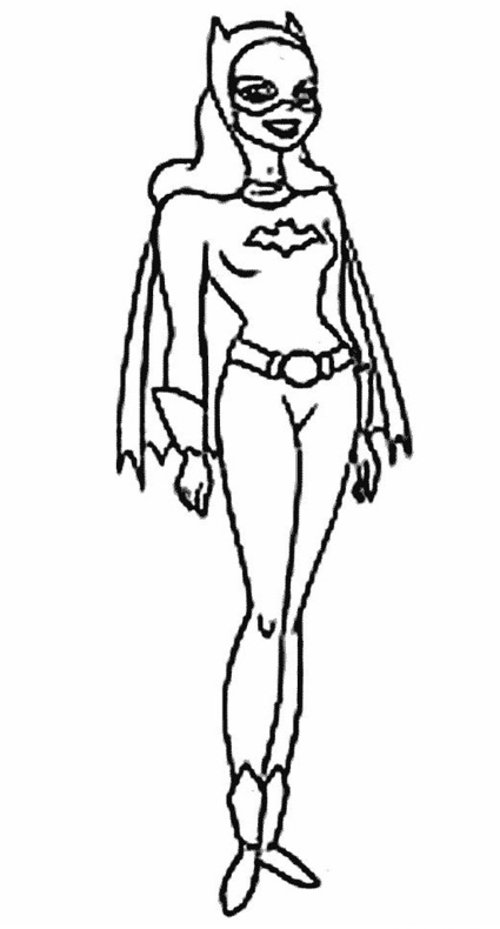 For Kids batgirl coloring pages >> Disney Coloring Pages