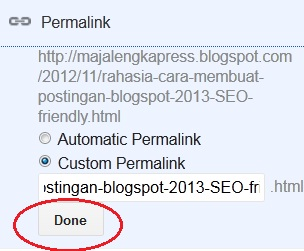 optimasi permalink blogspot 2013