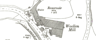 Crimble Mill, OS map, 1930.