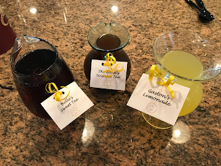 Beauty and the Beast bridal shower drinks