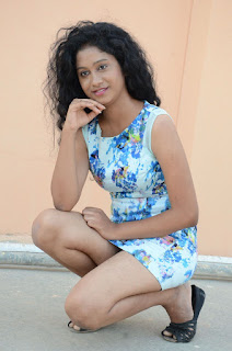 Actress Priyankha Stills in Floral Short Dress at Golmal Gullu Movie Pressmeet 0314.JPG