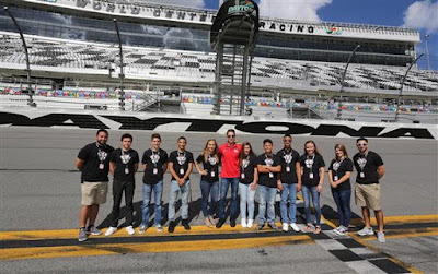 2017 NASCAR Drive for Diversity participants pose for photos  at Daytona International Speedway on October 16, 2017