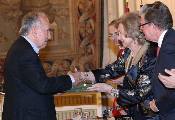 Queen Sofia at the 28th edition of Reina Sofia Ibero-American Poetry Award. the 60th Anniversary Award of of Manos Unidas