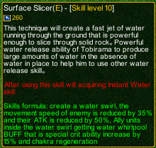 naruto castle defense 6.0 Tobirama Surface Slicer detail