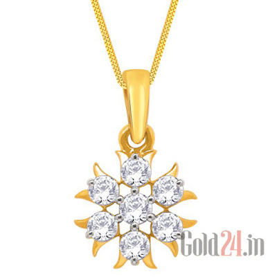 Nakshatra Gold Pendant with Diamonds