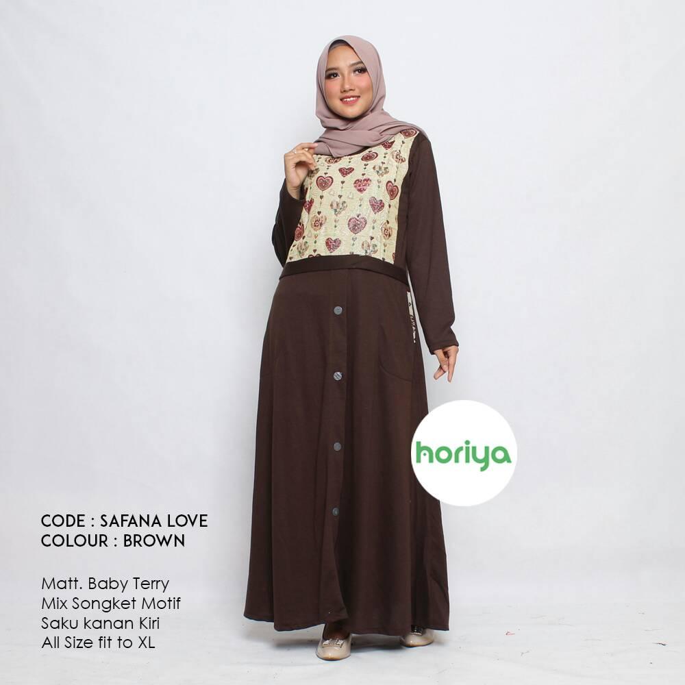 Supplier Gamis Hijab Branded Tangan Pertama Murah Safana Love Dan  03 Owl By Horiya