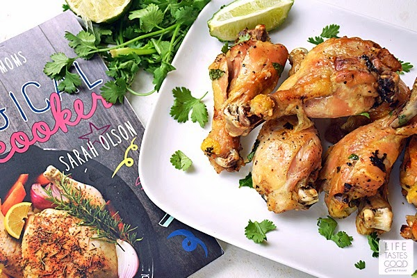 Slow Cooker Cilantro Lime Chicken packs a lot of flavor in an easy-to-make dinner. Fresh cilantro, lime, garlic, and chicken drumsticks cook just a few hours in the slow cooker. So simple, yet so tasty!