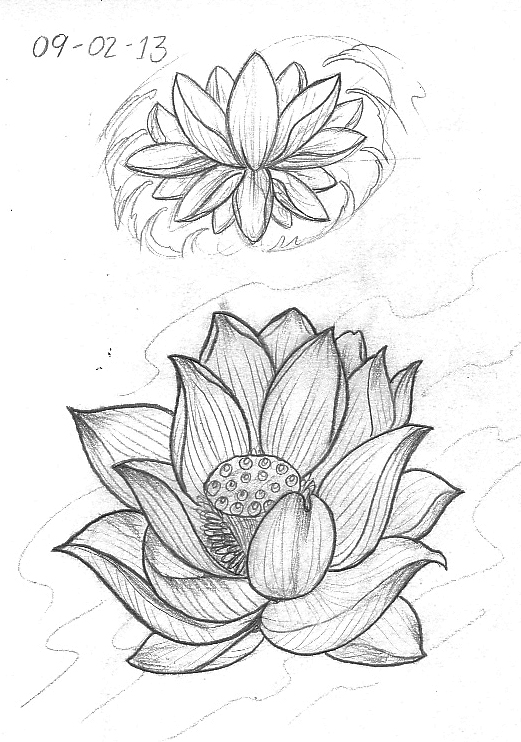 Tattoo Sketch A Day Flowers February 8th 14th