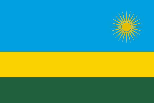 Logo Gambar Bendera Negara Rwanda PNG JPG ukuran 600 px