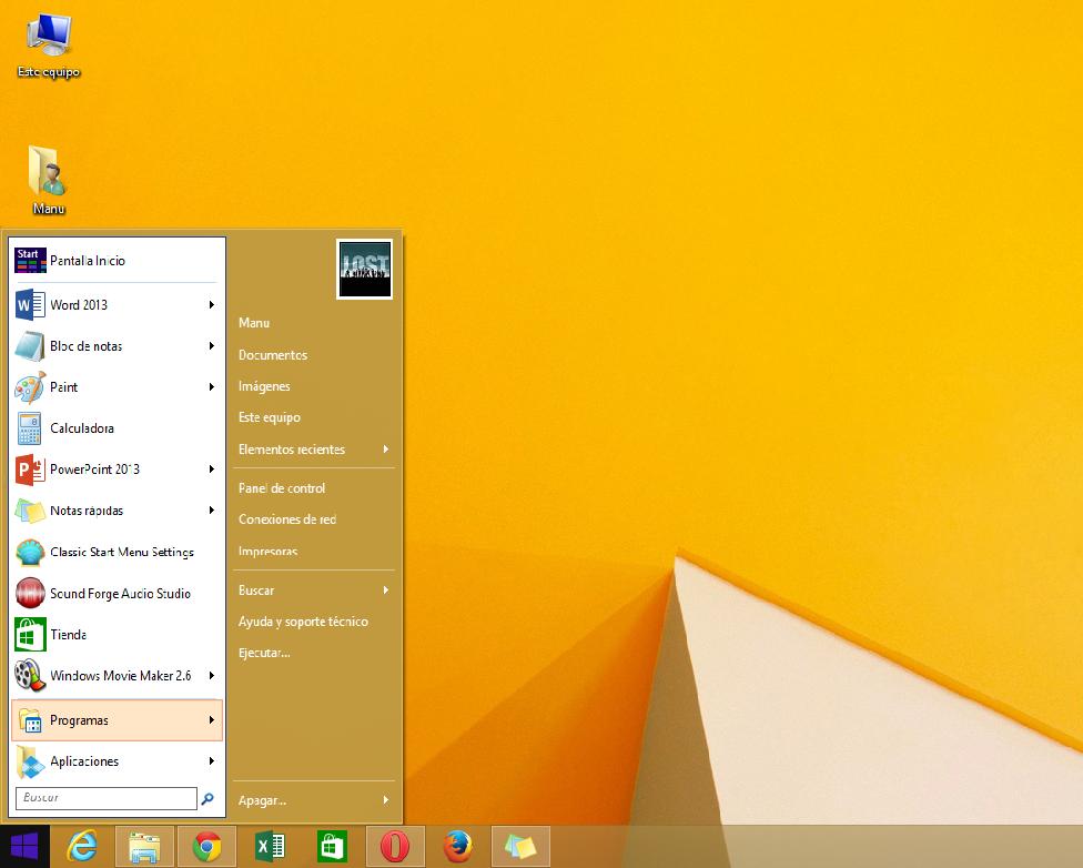 Volver al viejo inicio Windows 8.1 Yo Soy computacion