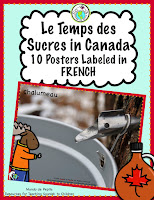 Le Temps des sucres 10 Posters Labeled in French
