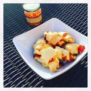Minis croissants poivrons chorizo