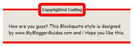 Blogger Blockquote Style 16