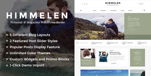 Free download Himmelen V1.0.4 Personal WordPress Blog Theme