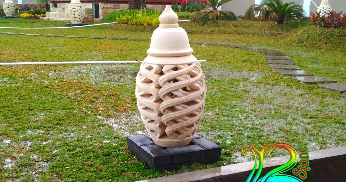 Lampion taman | Ukir Batu Alam Paras jogja